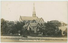 Sheffield, St. Andrews Church Sharrow 1909 Real Photo Postcard, C028