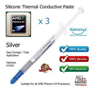 3 x Silver Thermal Heatsink Grease for AMD Phenom X4 1.8GHz HD960BWCJ4BGD CPU