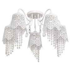 Plafonnier Blanc Elegance 5 Ampoules 43 cm
