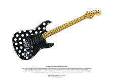 Buddy Guy's Polka-Dot Stratocaster ART POSTER A3 size