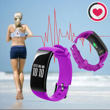 X16 Heart Rate Fitness Tracker Bluetooth Smart Bracelet for iOS Android Purple