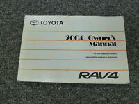 2004 Toyota RAV4 Crossover SUV Owner Owner's Manual User Guide Book 4WD 2.4L
