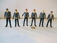 Harry Potter 6 Action Figure Bundle George, Draco Harry, Ron, Neville, Fred