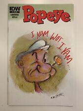 Idw Popeye #1 Feiffer Ri Cover : Holy Grail : Htf! : Buyer Decides Grade