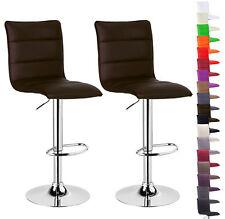 Barhocker Barstuhl Design Stuhl Drehbar Kunstleder Chrom Mit Lehne #719 24