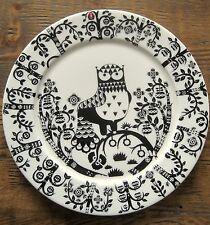 NEW & PERFECT IITTALA TAIKA BLACK DINNER PLATE 30CM