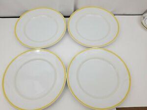 "Williams Sonoma Brasserie Yellow Chop Plates Set of 4 Platter 12.25"" Dishwasher"