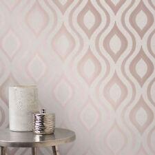 QUARTZ Papier peint Géométrique Doré Rose - décor fin fd42206 paillettes