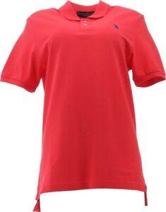 U.S. POLO ASSN Classic Pony Short Slv Polo Shirt XL Light Red # 11601588