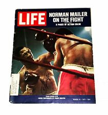 BOXING SMOKE JOE FRAZIER HAND SIGNED AUTOGRAPHED LIFE MAGAZINE BOOK WITH COA