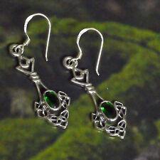 zauberhafte Ohrhänger Waldfee 925 Silber Mittelalter Kelten Triquetra Wicca