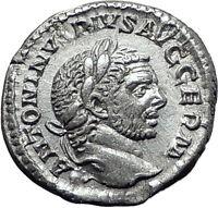 CARACALLA 217AD Rome Silver Authentic Ancient Roman Coin JUPITER ZEUS i61494