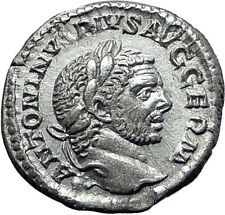 CARACALLA 217AD Rome Silver Authentic Ancient Roman Coin JUPITER ZEUS i61494