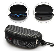 Zipper Eye Glasses Sunglasses Clam Shell Hard Case Protector Box Portable Black