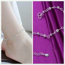 Boho Beach Beads Ankle Chain Bracelet Women Ladies Silver Plated Anklet Chain
