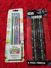 2 Lot Of Pencils Star wars And Tsum Tsum school supplies