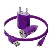 Mini Chargeur 3en1 Auto Et Secteur Usb Avec Câble Data Violet pour LG : BL20 New