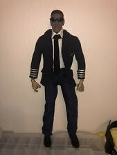"1/6 Scale Custom Denzel Washington As Commercial Airline Pilot ""Whip"" In  Flight"