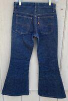 Vintage Levi's Bell Bottom Flare Leg Jeans Orange Tab W 26 (measures 28) L 27