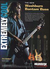 Pat Badger Extreme 1994 Washburn XB200 Bantam Bass guitar series 8 x 11 ad print