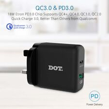 PD3.0 & QC3.0 36W Wall Charger / Type C to USB-C Cable For HTC Wildfire X