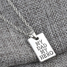 Silver Heroic Letter My Dad My Hero Pendant Necklace Gift Father 's Day Gift wl