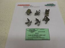 1955 1956 1957 Chevy #20-248 FUEL & BRAKE LINE CLIPS - Set of 6