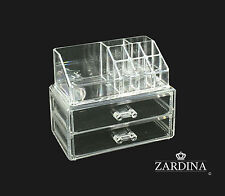 Clear Acrylic Make Up Organiser Storage Box Set (A4)