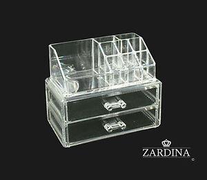 Clear Acrylic Make Up Organiser Storage Box Set (A4)