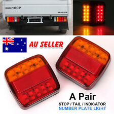2 X Trailer Tail Stop Light LED Lamps 20 LEDs Indicator Submersible Boat 12 Volt