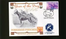 DOBERMAN PINSCHER 2006 CI YEAR OF THE DOG STAMP COVER 3