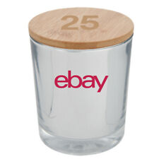 ebay 25th Anniversary Bamboo Soy Candle - White