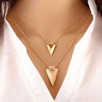 New Fashion Womens Bib Multi Layer Chain Choker Long Statement Pendant Necklace