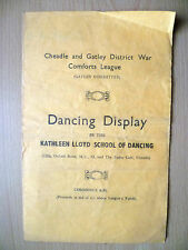 Cheadle & Gatley District War Comforts Leg-DANCING DISPLAY by KATHLEEN LLOYD SCH