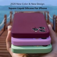 Square Liquid Silicone Case For iPhone 11 12 Pro Max Mini XS XR X 7 8 Soft Cover
