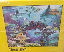 500 pcs 3D Visual Echo Jigsaw Puzzle Ocean Sunlit Sea Floor Tropical Fish Royce