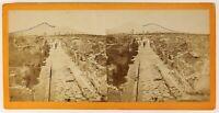 Pompei Italia Foto Stereo PL55L4n Vintage Albumina
