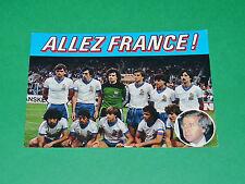 FOOTBALL CPA 1984 EURO 84 FFF BLEUS ALLEZ FRANCE ! PIF GADGET HIDALGO PLATINI
