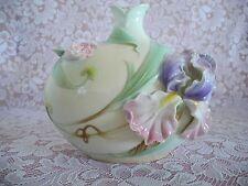 Franz Porcelain Vase Windswept Iris Flower Sculptured Design Original FZ00488NEW