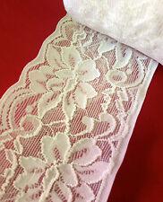 10 métres  dentelle COEUR du puy polyester blanc  au crochet  1.8cm cm   lot 121