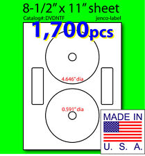 DVDNTF, 1,700 CD/DVD Labels Neato Compatible Full Face