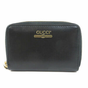 GUCCI  547597 Card Case logo Leather