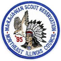 1995 Ma-Ka-Ja-Wan Scout Reservation Patch Northeast Illinois Council IL BSA