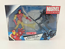 "Marvel Universe 3.75"" Target Iron Man VS. Black Panther 2 Action Figure Set NEW"