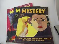 1935 Mystery Magazine lot of 3 Tower Dime price tag pulp