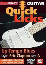 Quick Licks Guitar: Eric Clapton Up Tempo Blues K-A by Lick Library DVD