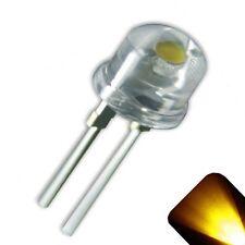 20 x LED 8mm Yellow Gold .5 Watt Wide Angle High Power LEDs 0.5w half 1/2 Truck