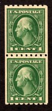 Oas-Cny 2270 Scott 410 Coil Pair Mint Lightly Hinged Free Combined Shipping