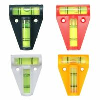 2Pcs 2 WAY MINI SPIRIT LEVEL LEVELLER TOOL TRAILER CARAVAN MOTORHOME 4 Colour