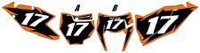 2017 KTM 350 XC-F Custom Pre-Printed Black Backgrounds Orange Shock Series